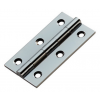 """2.5"""" Butt Hinges (pair) - Polished Chrome"""
