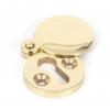 Round Escutcheon with Cover - Polished Brass