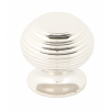 Beehive Cabinet Knob 30mm - Polished Nickel