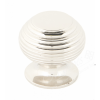 Beehive Cupboard Knob - Polished Nickel