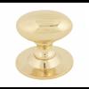 Oval Cabinet Knob 40mm - Polished Brass