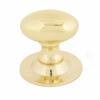 Oval Cupboard Knob - Polished Brass