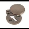 Round Escutcheon with Cover - Aged Bronze