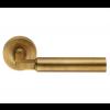 Amiata Lever Handle on Rose - Antique Brass