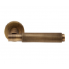 Varese Knurled Lever Handle on Rose - Antique Brass