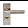 Varese Knurled Lever Bathroom Handle - Satin Nickel