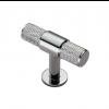Knurled T-Bar Knob 50mm - Polished Chrome