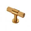 Knurled T-Bar Knob 50mm - Satin Brass