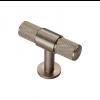 Knurled T-Bar Knob 50mm - Satin Nickel