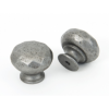 Hammered Knob - Pewter