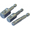 Hex to Square Drive Adaptor Set of 3