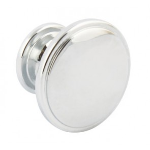 Henrietta Knob D38x26mm - Polished Chrome