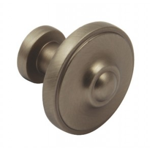 Ariel Knob D33x29mm - Pewter Effect