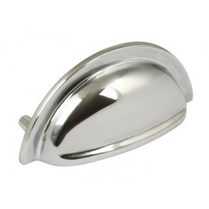 Henrietta Cup Handle 76mm centres - Polished Chrome