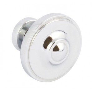Ariel Knob D33x29mm - Polished Chrome