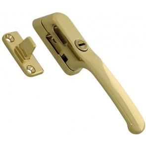 Locking Night Vent Fastener Gold Coloured