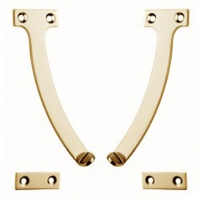 "6"" Quadrant Stay - Polished Brass"
