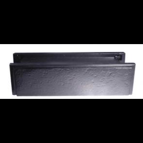 Black PVCu Sleeved Letter Plate 274 x 71mm