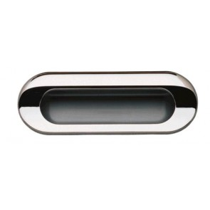 Flush Handle 111x41mm - Polished Chrome/Aluminium Coloured