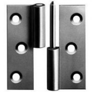 "3"" Lift Off Steel Butt Hinges (pair) - Zinc"