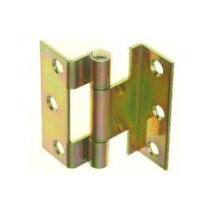 "2.5"" 1967 Flush Stormproof Hinge (pair) - Yellow Passivated"