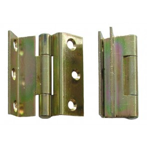 "2.5"" 3207 Stormproof Hinge (pair) - Yellow Pasivated"