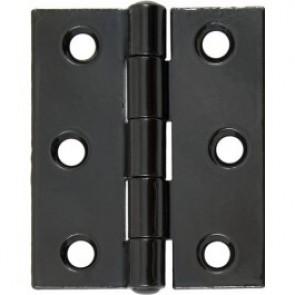 """3"""" Steel Butt Hinges (pair) - Black Powder Coated"""