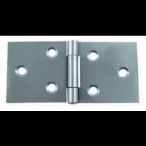 Back Flap Steel Hinges (pair) - Zinc