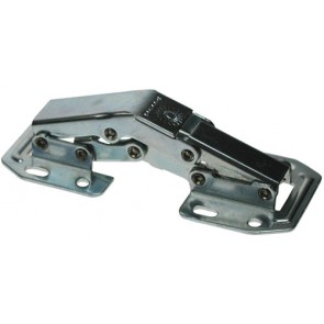 Easy Mount & Sprung Kitchen Hinge 90º (pair) - Zinc Plated