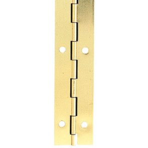 Steel Piano Hinge 40mm x 3.5m - Electro Brass