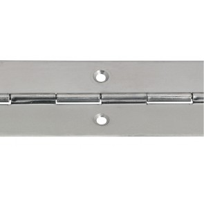 Steel Piano Hinge 32mm x 3.5m - Nickel Plated