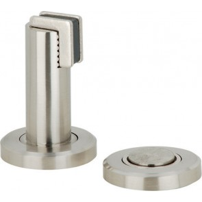 Magnetic door holder - Satin Stainless Steel