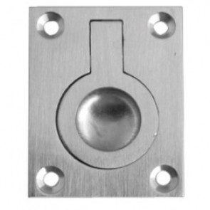 Flush Ring Pull - Satin Chrome