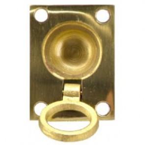 Flush Ring Pull - Polished Brass