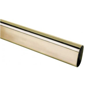 Wardrobe Rail 1.25m Polished Brass