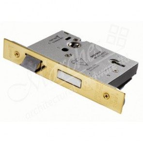 British Standard 5 Lever Sash Locks - PVD Brass