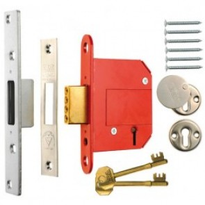 ERA British Standard Fortress 5 Lever Deadlock - Satin