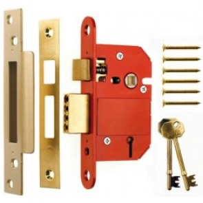 Era British Standard Fortress 5 Lever Sashlock - Brass