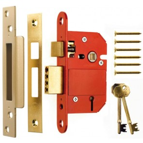 Classic Fortress 5 Lever British Standard Sashlock 64mm Keyed Alike - Brass
