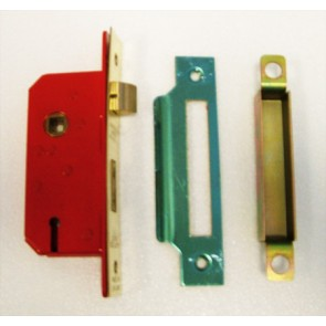 "5 Lever Sash Lock 2"" - Polished Brass"