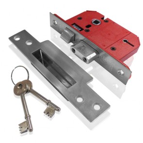 Union 2200S Strongbolt 5L BS Sashlock 68mm - Satin Chrome