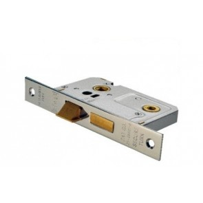 Bathroom Mortice Lock - Nickel (Various Sizes)