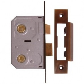 Bathroom Mortice Lock - Florentine Bronze (Various Sizes)