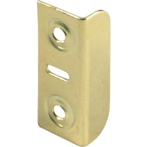 Plated Angled Strike Plate - Brass