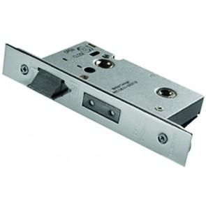"Heavy Duty Bathroom Mortice Lock 2.5"" - Satin Stainless Steel"