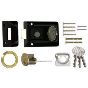 Yale Night Latch 60mm Backset - Black Case