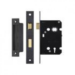 3 Lever Sash Lock 76mm - Black