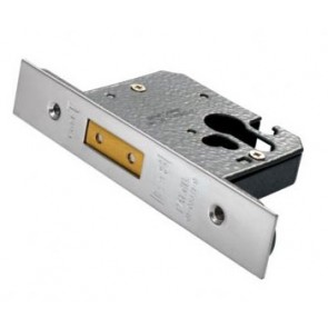 "Euro Profile Dead Lock 2.5"" - Satin Stainless Steel"