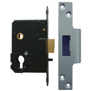 Euro Fire/Hotel Lock 76mm - Satin