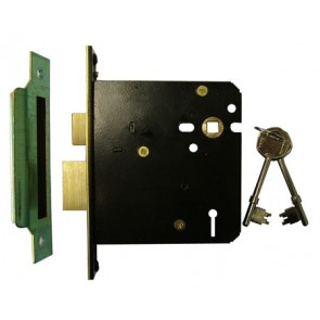 "5 Lever Mortice Sash Lock 4"" - Polished Brass"